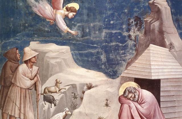 Giotto, Il sogno di Gioacchino (1305)_Cappella degli Scrovegni, Padova