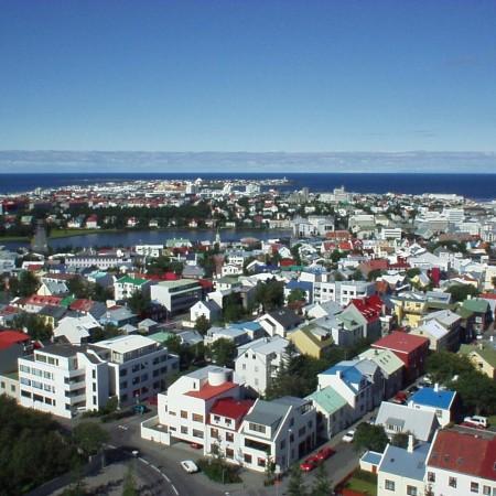 017 Reykjavik (da sopra la Hallgrimskirkja)