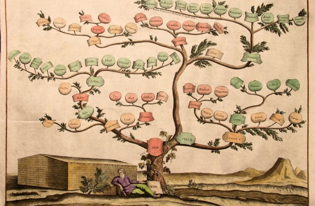 1720-genealogical-bible-tree-of-noah-noah-s-ark