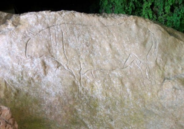 Graffiti rupestri a Papasidero