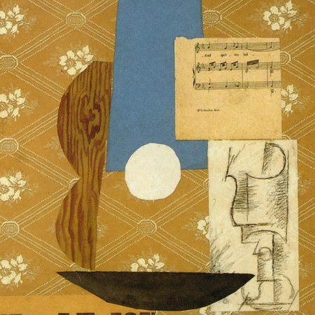 Pablo Picasso Chitarra partitura e bicchiere 1912 McNay Art Museum San Antonio