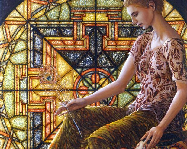 Pan-Dora (2001 130x120 olio su tela)