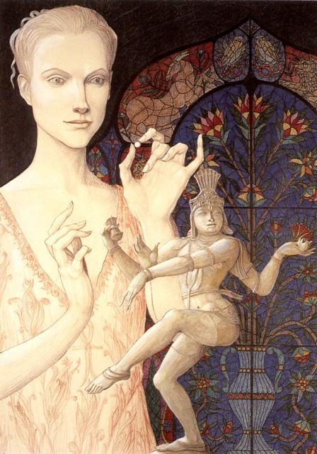 Tersicore (1998, 100x70 cm, tecnica mista su cartoncino)