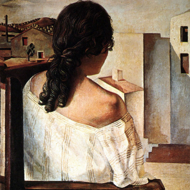 Sırttan-Resmedilmiş-Oturan-Genç-Kız-Seated-Girl-Seen-from-the-Back