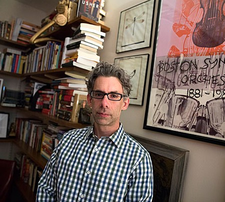 Bret Anthony Johnston is the director of creative writing at Harvard. He has a new novel coming out and was instrumental in planning LitFest. He is pictured in his office in the Barker Center at Harvard University. Stephanie Mitchell/Harvard Staff Photographer