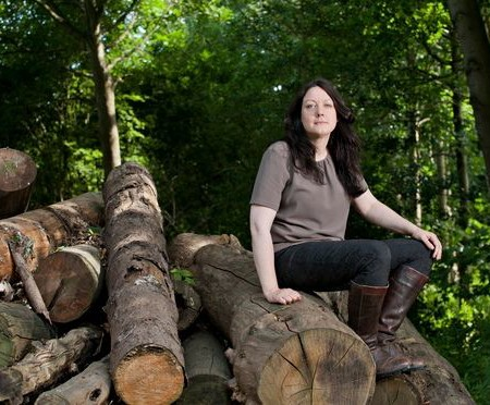 Helen Macdonald, pictured in Elveden Forest, Norfolk.