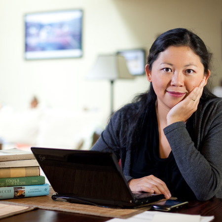 OAKLAND, CA - SEPTEMBER 21:  Fiction writer Yiyun Li is photographed at her home in Oakland, CA for the MacArthur Foundation  Awards. (Photo by Don Feria/Getty Images for The MacArthur Foundation Awards)