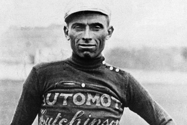 Portrait of Italian cyclist Ottavio Bottecchia taken in the mid 20's who won the Tour de France in 1924 and 1925. Bottecchia became the first rider to wear the yellow jersey of leader during the whole Tour de France after winning the first stage between Paris and Le Havre 22 June 1924. (NB)
