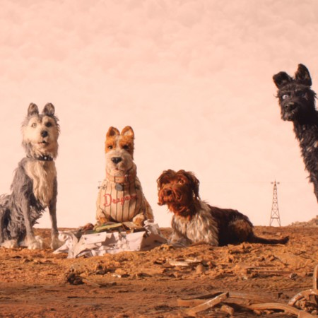"(From L-R): Edward Norton as ""Rex,"" Jeff Goldblum as ""Duke,"" Bill Murray as ""Boss,"" Bob Balaban as ""King"" and Bryan Cranston as ""Chief"" in the film ISLE OF DOGS. Photo Courtesy of Fox Searchlight Pictures. © 2018 Twentieth Century Fox Film Corporation All Rights Reserved"