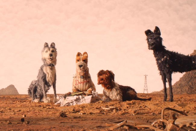 """(From L-R): Edward Norton as """"Rex,"""" Jeff Goldblum as """"Duke,"""" Bill Murray as """"Boss,"""" Bob Balaban as """"King"""" and Bryan Cranston as """"Chief"""" in the film ISLE OF DOGS. Photo Courtesy of Fox Searchlight Pictures. © 2018 Twentieth Century Fox Film Corporation All Rights Reserved"""