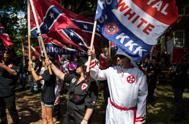 Ku Klux Klan Protests Planned Removal Of General Lee Statue From VA Park